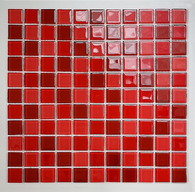 Crystal Glass mosaic Red mix  KM103