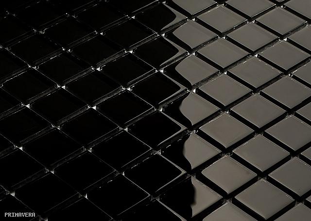 mozaika szklana czarna k01 wysoki po�ysk mozaika
