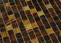 Mozaika Szklana Brązowa-złota KMC06