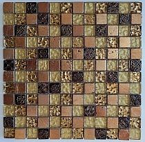 Mozaika Kamienno Szklana Czerwona MayA GOLD A52 wzorowana na BARWOLF Aztec