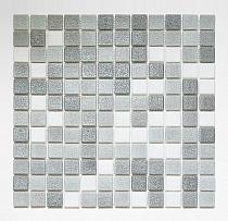 Mozaika szklana szara+biała mix  AM126