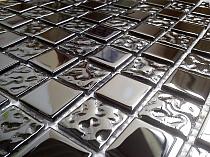 Mozaika Szklana Czarna A117- Wysoki połysk