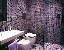 Mozaika Szklana Fioletowa Perłowa złota  KMC04