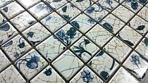 Beige ceramic mosaic  Morocco Flower 4