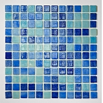 Glass Mosaic Mix Blue NIEBLA