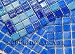 Glass Mosaic Mix Blue NIEBLA