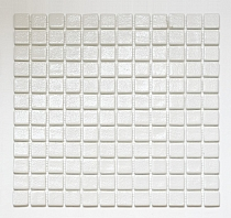 Mozaika Szklana NIEBLA Biała  Antypoślizgowa