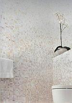 Mozaika Szklana Biała + złota KMC015