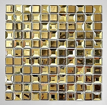 Mozaika szklana  Diamentowa+ Złota KM125
