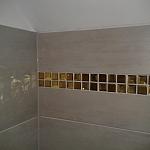 Glass mosaic gold+diamond  KM125