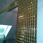Glass mosaic gold+diamond  KM125