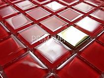 Mozaika Szklana  Czerwona+ Złota A 124