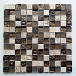 Mozaika Kamienno Szklana   Trawertyn Rustic-Glass AZTEC  A28 jak BARWOLF