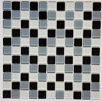 Mozaika Szklana Szara+Biała+Czarna KM105