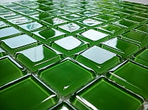 Glass mosaic green  K010