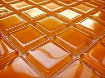 Mozaika Szklana Pomarańczowa K09 - wysoki połysk