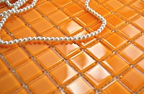 Glass mosaic orange K09