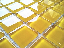 Glass mosaic yellow  K08