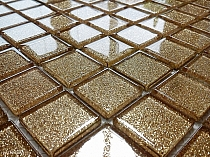 Glass Mosaic glitter GOLD  B111