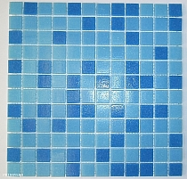 Glass mosaic Blue mix CM310