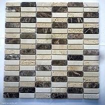 Mozaika Kamienna Antykowana MAR-FM 158  Trawertyn Marmur