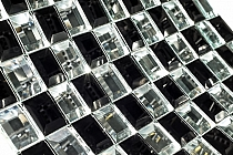 DIAMOND Glass mosaic black+white A122