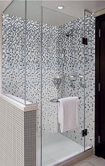 Mozaika szklana Melanż SZARY DC410 - Wysoki połysk
