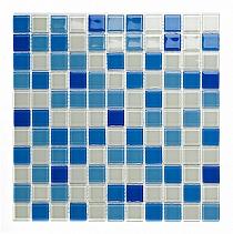 Mozaika Szklana MELANŻ Niebieski DC409 - Wysoki połysk
