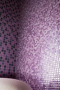 Mozaika szklana Melanż FIOLET WRZOS DC412- PROMOCJA