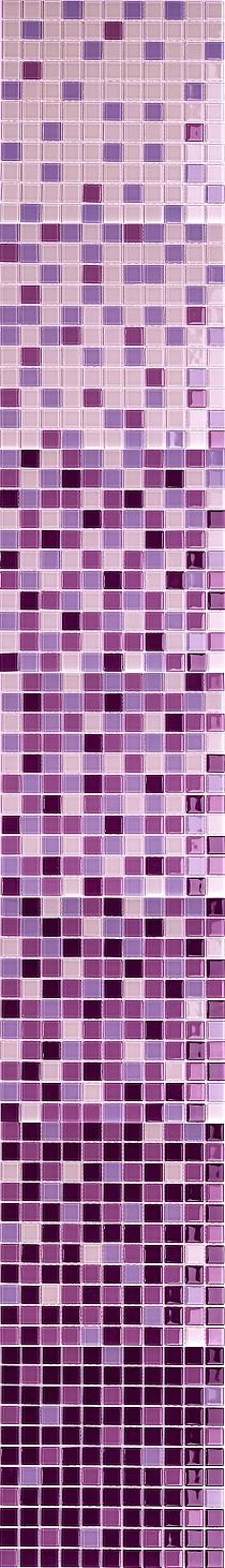 Mozaika szklana Melanż FIOLET WRZOS DC412- WYSOKI POŁYSK