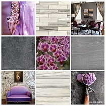 Glitter Glass mosaic VIOLET HEATHER B114