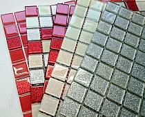 Mozaika Szklana z brokatem SREBRNA B116 AT-3s2
