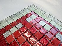 glitter glass mosaic RED mix BM121