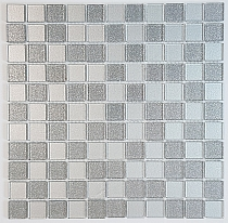 glitter glass mosaic SILVER MIX BM124