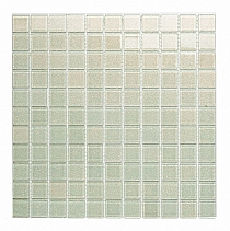 Glass mosaic with brocade WHITE B118