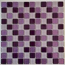 Mozaika Szklana z brokatem FIOLET MIX BM126