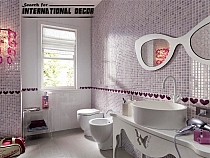 Glitter Glass mosaic VIOLET MIX BM126