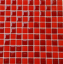 DIAMOND Glass mosaic  red A127