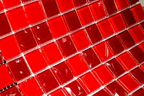 DIAMOND Glass mosaic  red A127