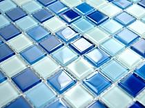 Mozaika Szklana NIEBIESKA mix KM113