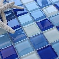 Glass Mosaic Blue KM108