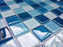 Mozaika Szklana  mix KMC05 NIEBIESKI MIX
