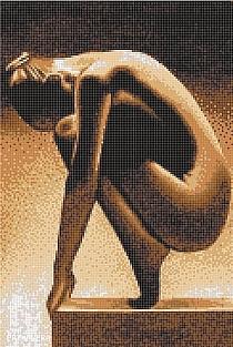 Mozaika szklana Lady nacked