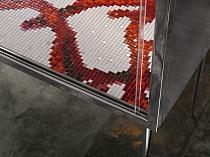 Glass mosaic Corallo