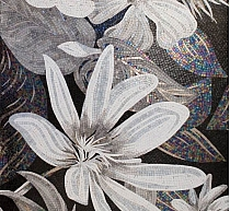 Luxury glass mosaic sicis flower