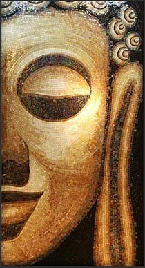 Obraz z mozaiki szklanej BUDDA