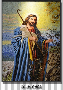 glass mosaic christian religious