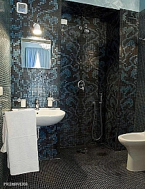 Glass mosaic Damasco Black and Opale