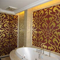 Glass mosaic Damasco  Rosso Oro BISAZZA style
