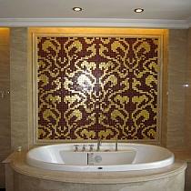Mozaika szklana Damasco Rosso Oro złota+czerwona